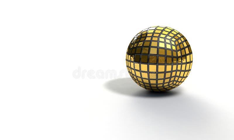 Hintergrund des Bereichgoldmodells, 3d übertragen stock abbildung