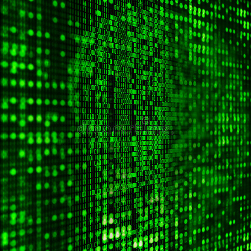 Hintergrund des binären Code-3D vektor abbildung