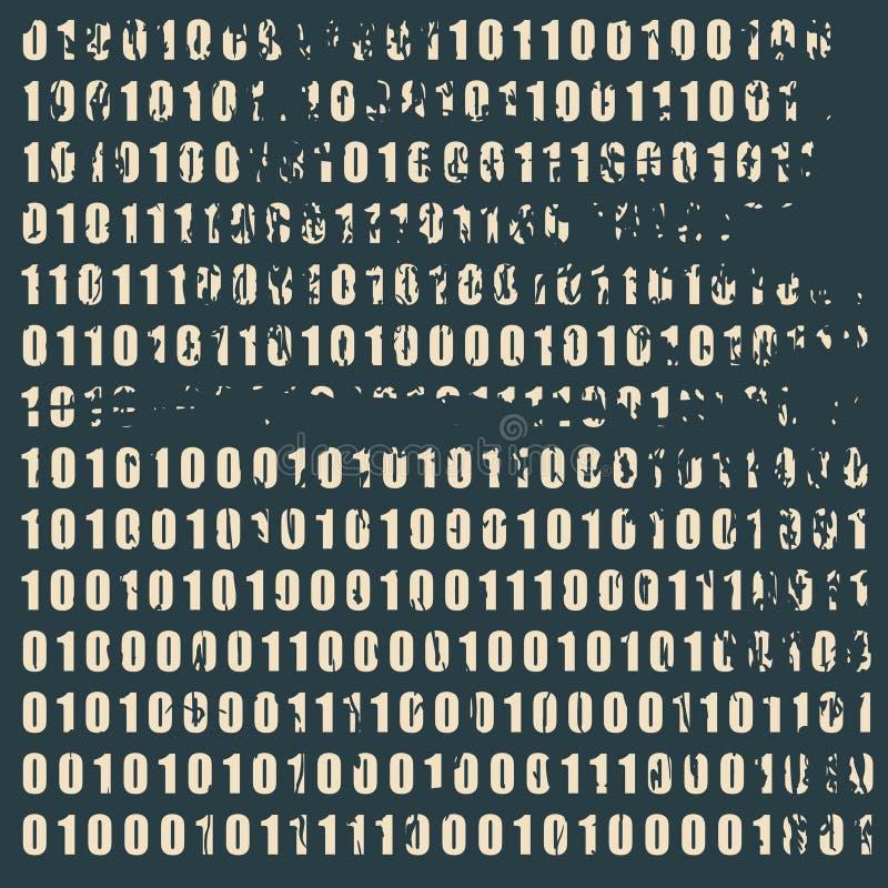 Hintergrund des binären Codes stock abbildung