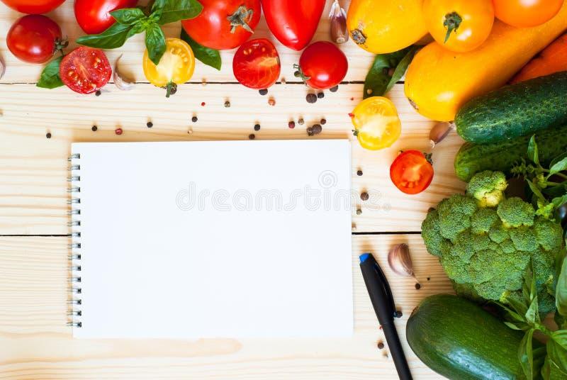 Hintergrund des biologischen Lebensmittels lizenzfreie stockfotos