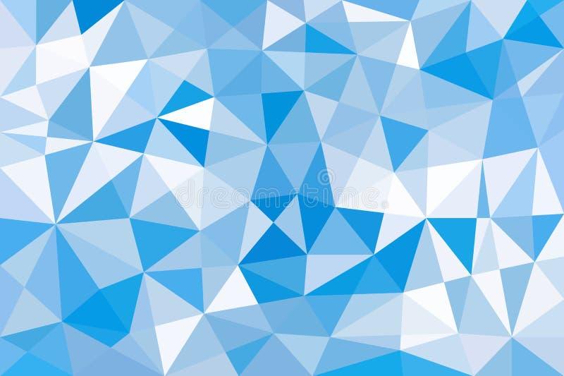 Hintergrund des blauen Himmels von den Dreiecken niedrig Poly stock abbildung