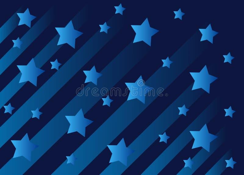 Hintergrund des blauen Sternes stock abbildung