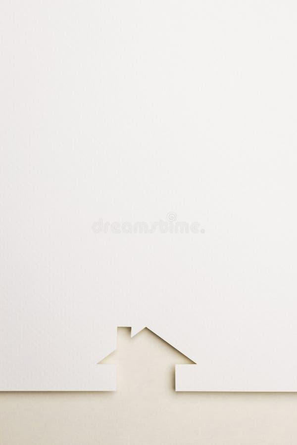 Hintergrund des einfachen Hauses auf Eyecaregrenze vektor abbildung