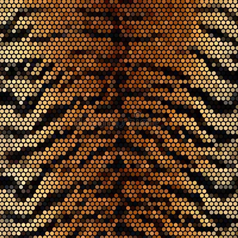 Hintergrund des entfernten Mosaiks des Tigers vektor stock abbildung