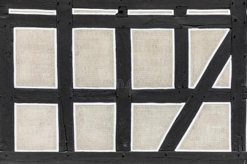 Hintergrund des Fachwerkhauses in Neu Anspach, Deutschland lizenzfreies stockbild