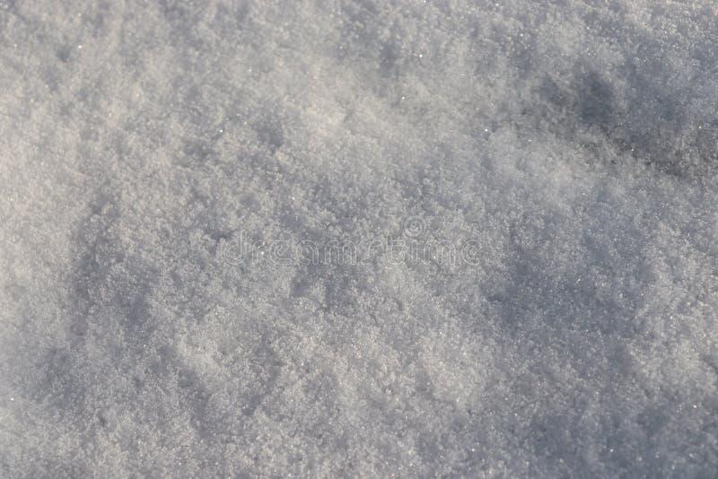 Hintergrund des frischen reinen Schnees, weiße Kristalloberfläche lizenzfreie stockbilder