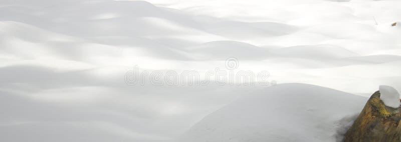 Hintergrund des frischen Schnees stockbilder