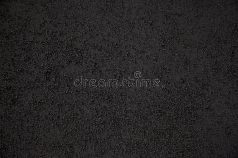 Hintergrund des Gebäudevollendenzementes mit Sand der schwarzen Farbe lizenzfreies stockfoto