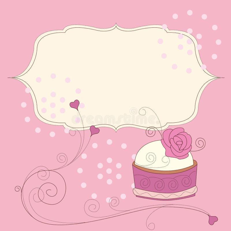 Hintergrund des Geburtstagkuchens vektor abbildung