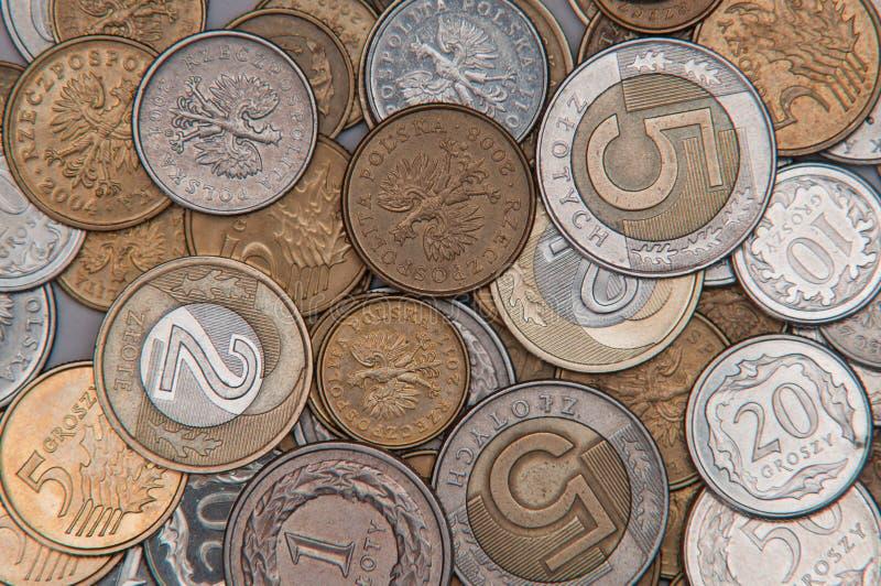 Hintergrund des Geldes PLN stockbild