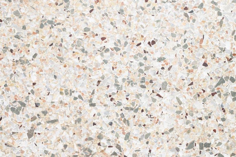 Hintergrund des grauen Terrazzobodens stockfotografie