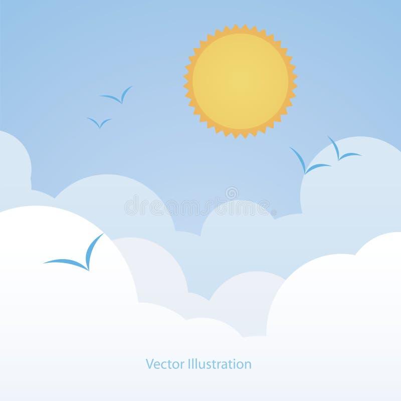 Hintergrund des guten Wetters. Blauer Himmel mit Wolken stock abbildung