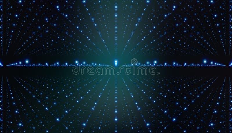 Hintergrund des interstellaren Raumes des Vektors Kosmische Galaxieillustration mit Nebelfleck, stardust und hellen glänzenden St stock abbildung