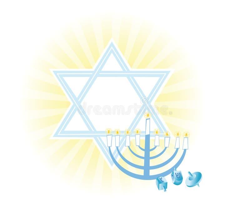 Hintergrund des jüdischen Feiertags Hanukkah stock abbildung