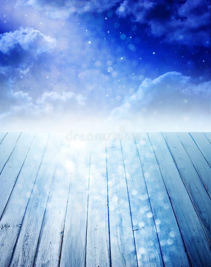 Hintergrund des nächtlichen Himmels stockbild