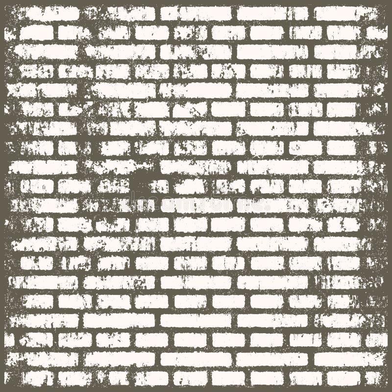 Hintergrund des schmutzigen Ziegelsteinraumes der alten Weinlese vektor abbildung