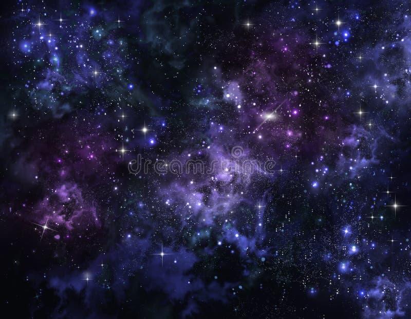 Hintergrund des Sternhimmels lizenzfreie abbildung