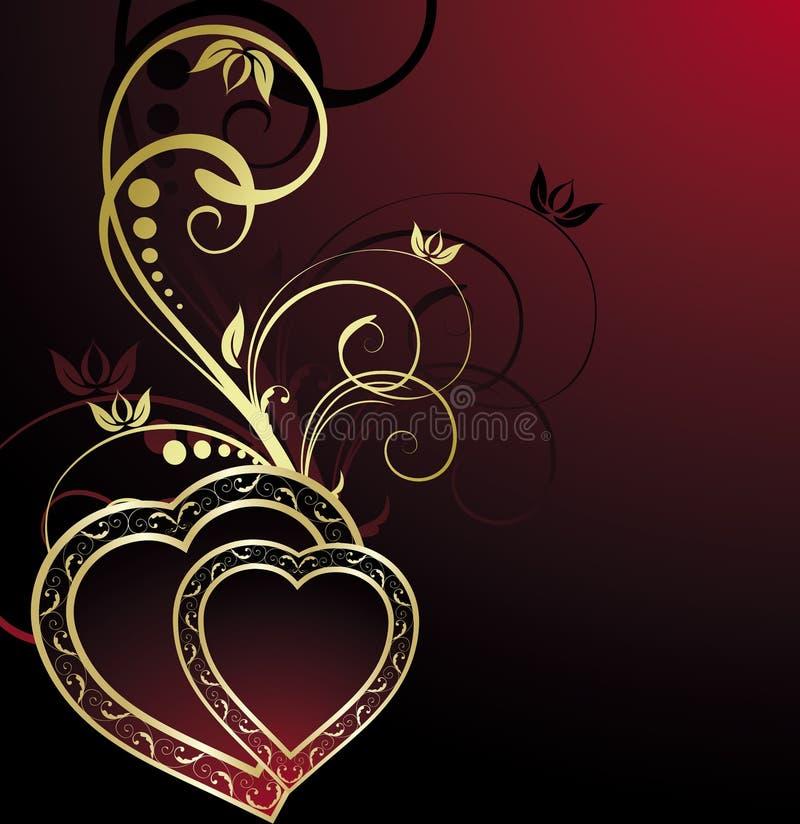 Hintergrund des Valentinsgrußes stock abbildung