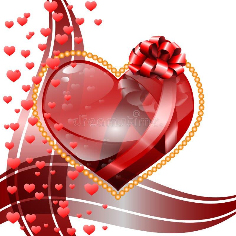 Hintergrund des Valentinsgrußes s Tages. stockbild