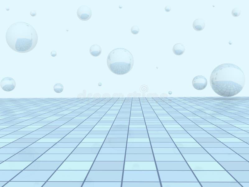 Hintergrund - eine abstrakte geometrische Abbildung stock abbildung