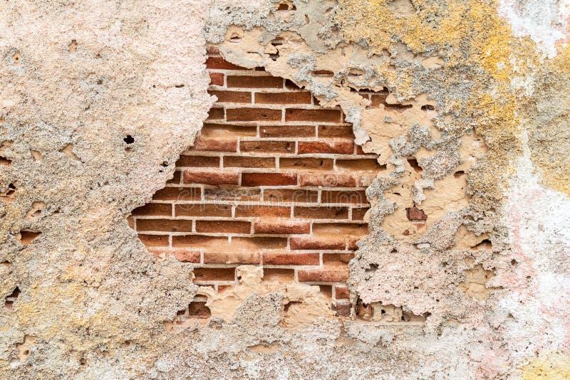 Hintergrund eines dilipitated Ziegelstein wa stockfoto