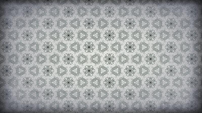Hintergrund Entwurf der grafischen Kunst dunkle der Grey Vintage Floral Pattern Texture-Hintergrund-Schablonen-schöner eleganter  stock abbildung