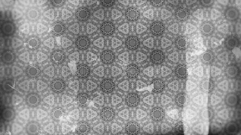 Hintergrund Entwurf der grafischen Kunst dunkler der Grey Vintage Decorative Floral Pattern-Tapeten-Entwurfs-schöner eleganter Il vektor abbildung