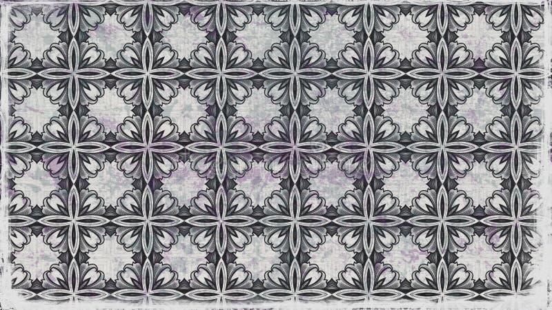 Hintergrund Entwurf der grafischen Kunst dunkles der Grey Floral Vintage Pattern Background-Bild-schöner eleganter Illustration stock abbildung