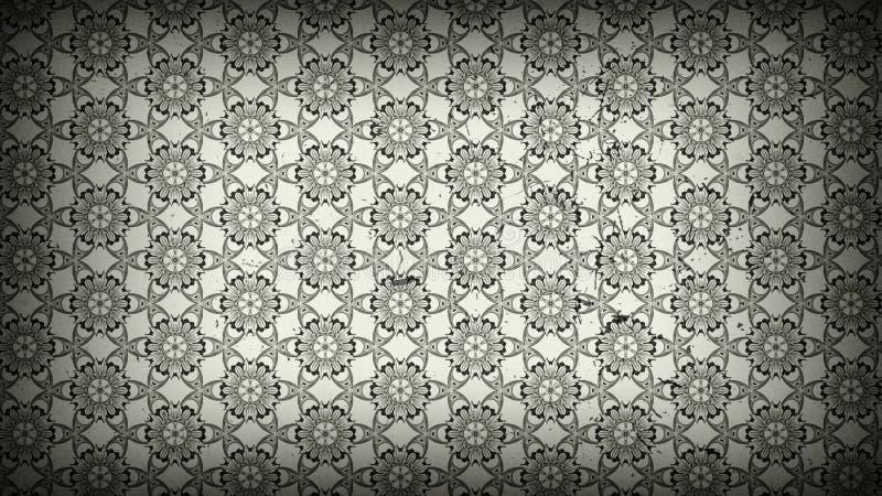 Hintergrund Entwurf der grafischen Kunst dunkles der Grey Vintage Decorative Floral Ornament-Tapeten-Muster-Bild-schöner elegante vektor abbildung