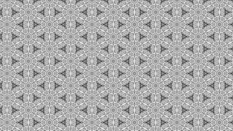 Hintergrund Entwurf der grafischen Kunst der Gray Floral Geometric Pattern Background-Schablonen-schöner eleganter Illustration vektor abbildung