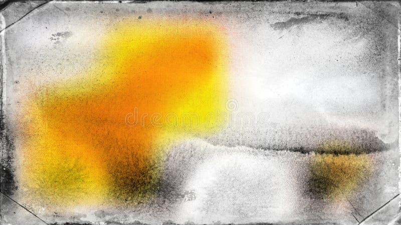 Hintergrund Entwurf der grafischen Kunst der Orangen-und Grey Grunge Background Texture Beautifuls eleganter Illustration lizenzfreie abbildung