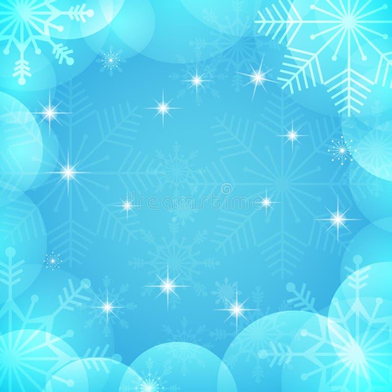Hintergrund Eps10 Vektor-roter Weihnachtstext auf grünem Hintergrund Hellblaue und weiße Farben tapezieren mit transparenten Schn lizenzfreie abbildung