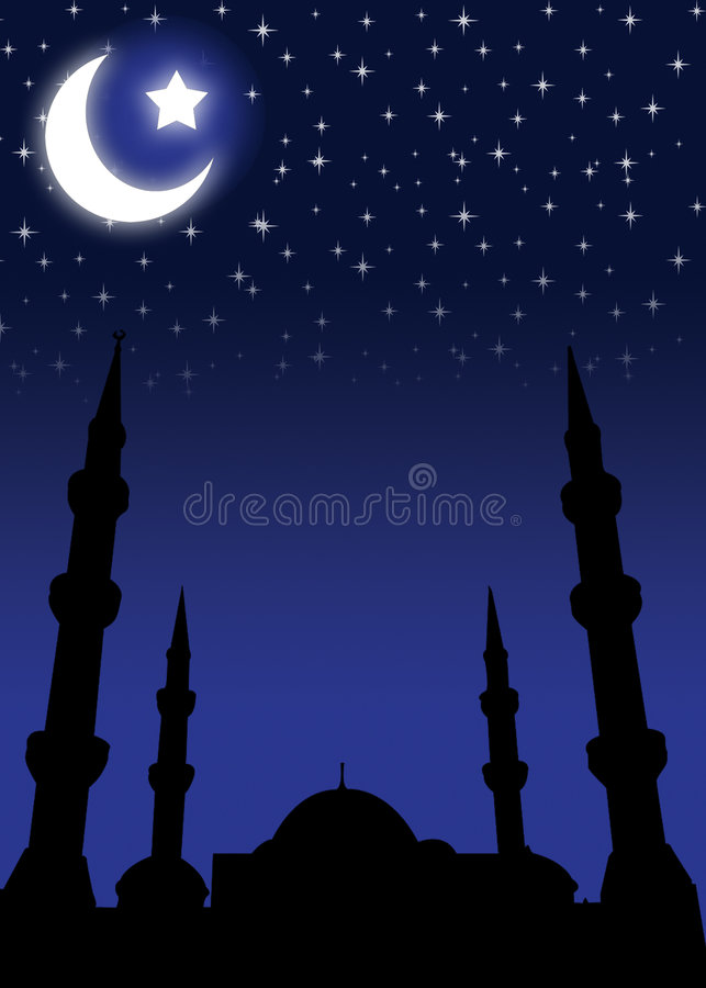 Hintergrund für Eid stock abbildung