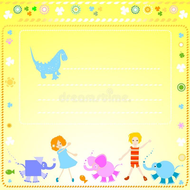 Hintergrund für Kinder stock abbildung