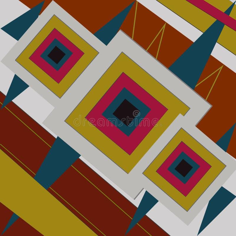 Hintergrund für materielles Design mit grafischen Linien lizenzfreie abbildung