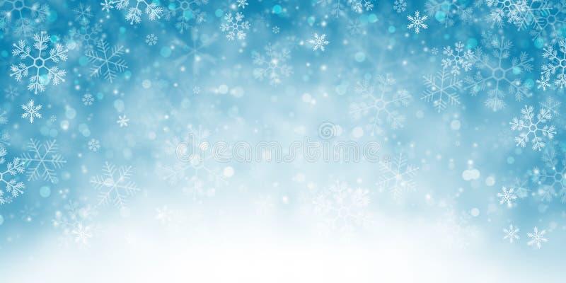 Hintergrund-Fahne des verschneiten Winters vektor abbildung