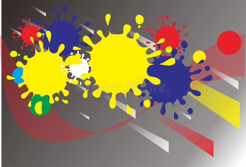 Hintergrund farbenreiches collorfull Farbe-abstrack Schwarzgelb lizenzfreies stockfoto