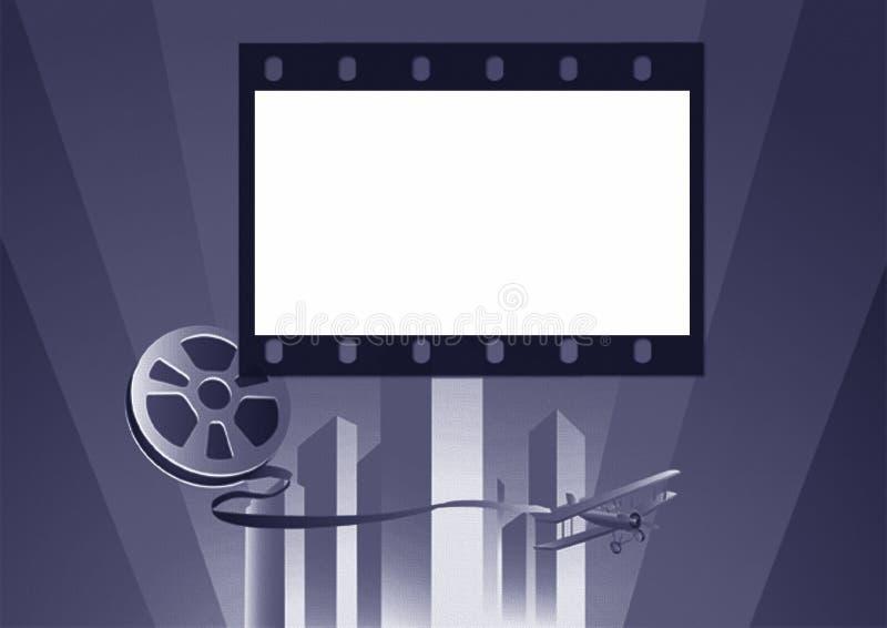 Hintergrund-Filmplakat stock abbildung