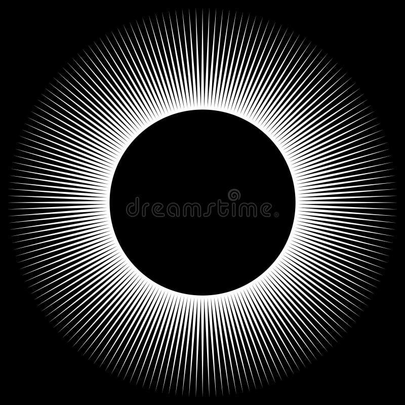 Hintergrund in Form eines weißen Bereichs von Strahlen lizenzfreie abbildung