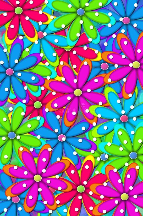 Hintergrund-Gänseblümchen-Punkte stock abbildung