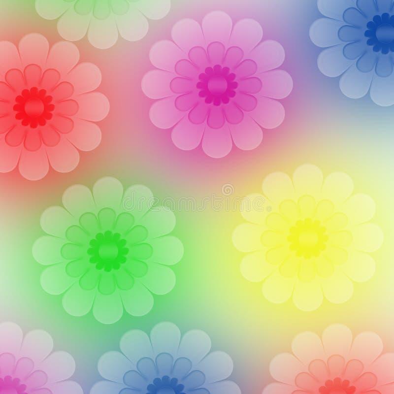 Hintergrund gebildet von den Blumen stock abbildung
