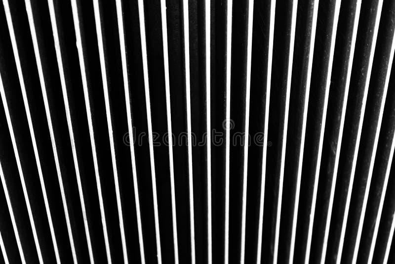 Hintergrund gemacht vom Metall Vertikale Streifen stockbilder