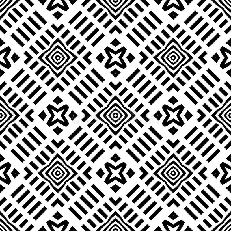 Hintergrund, geometrisches nahtloses Muster der Zusammenfassung, Vektor stock abbildung