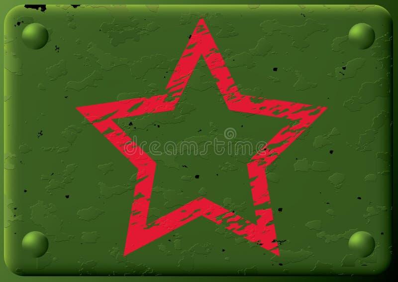 Hintergrund-gepanzertes plate&star. lizenzfreie abbildung