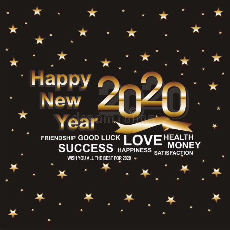 Hintergrund-guten Rutsch ins Neue Jahr stock abbildung