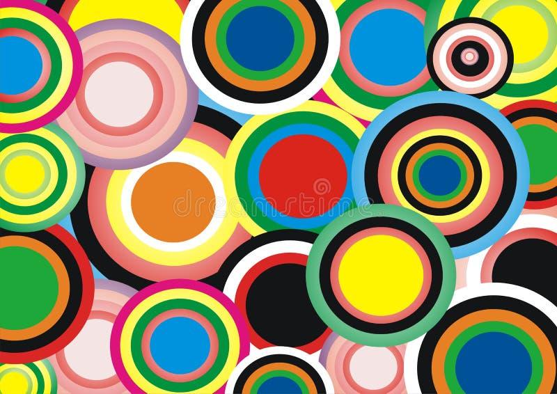 Hintergrund: helle Kreise stock abbildung