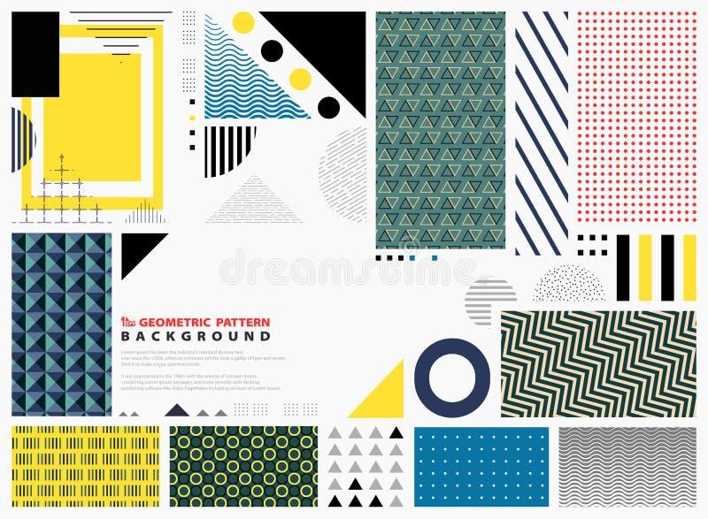 Hintergrund-Kopienraum des abstrakten geometrischen Musters bunter Moderner Entwurf von den Formen, die für Darstellung verzieren lizenzfreie abbildung