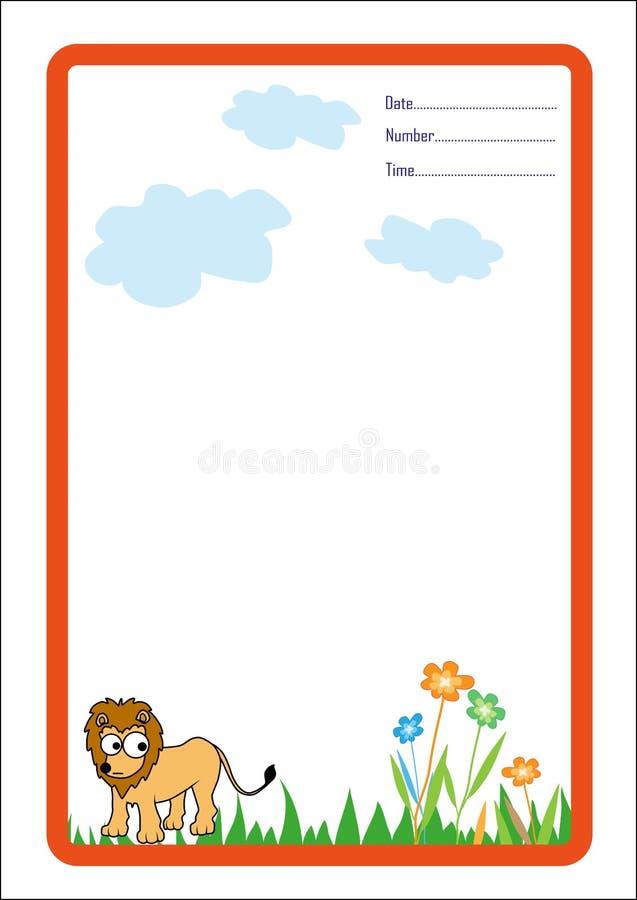 Download Hintergrund-Löwekarikatur stock abbildung. Illustration von zweig - 26352888