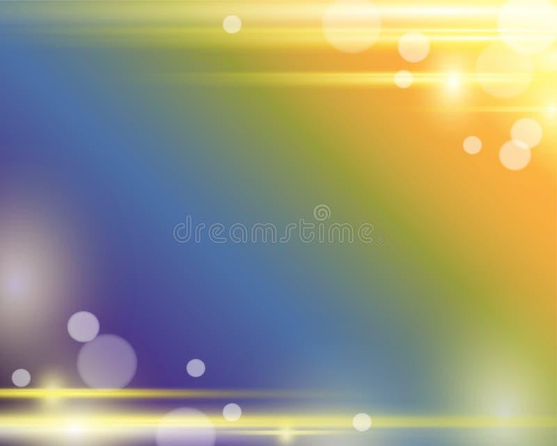 Hintergrund Lensflare und Bokeh vektor abbildung