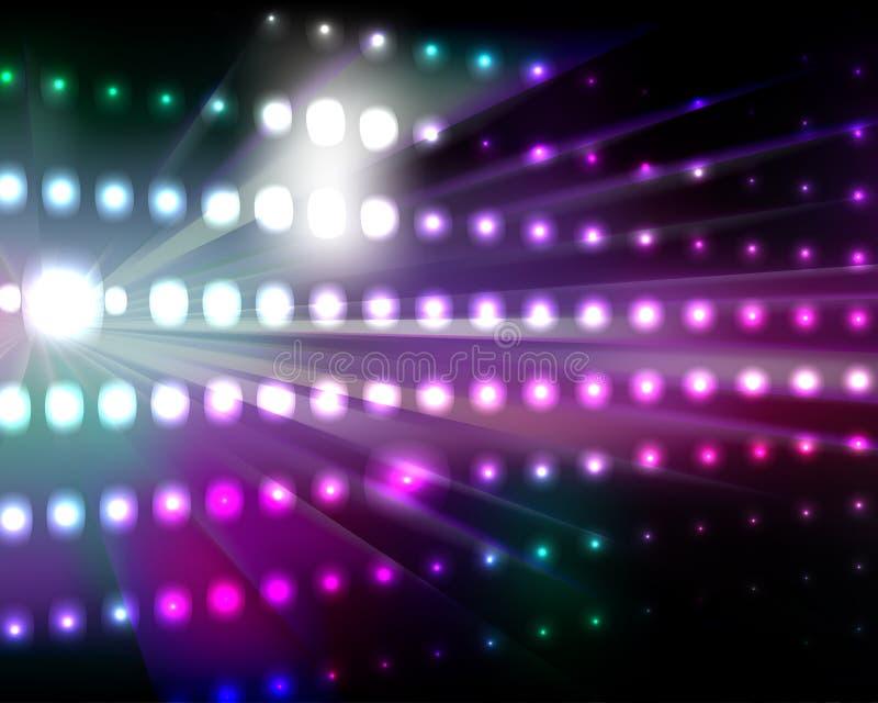 Hintergrund-Leuchten stock abbildung